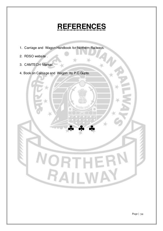 Railway coaching depot report