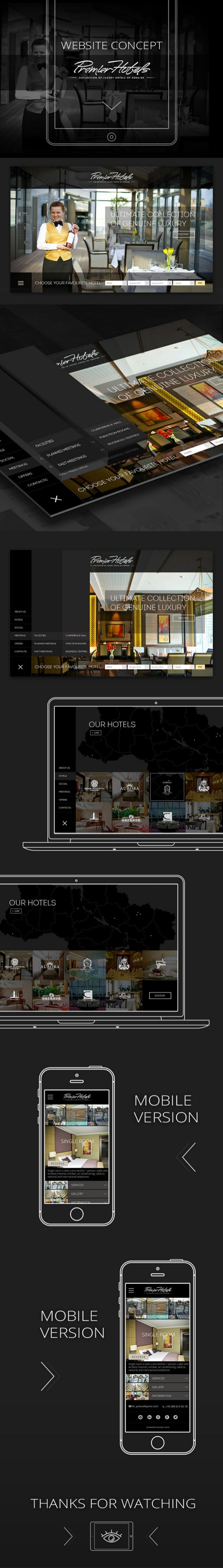 Premier Hotels Website by Dctology