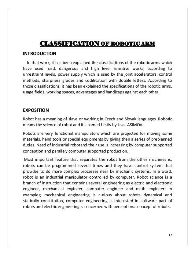 Hydraulic robotic arm science project