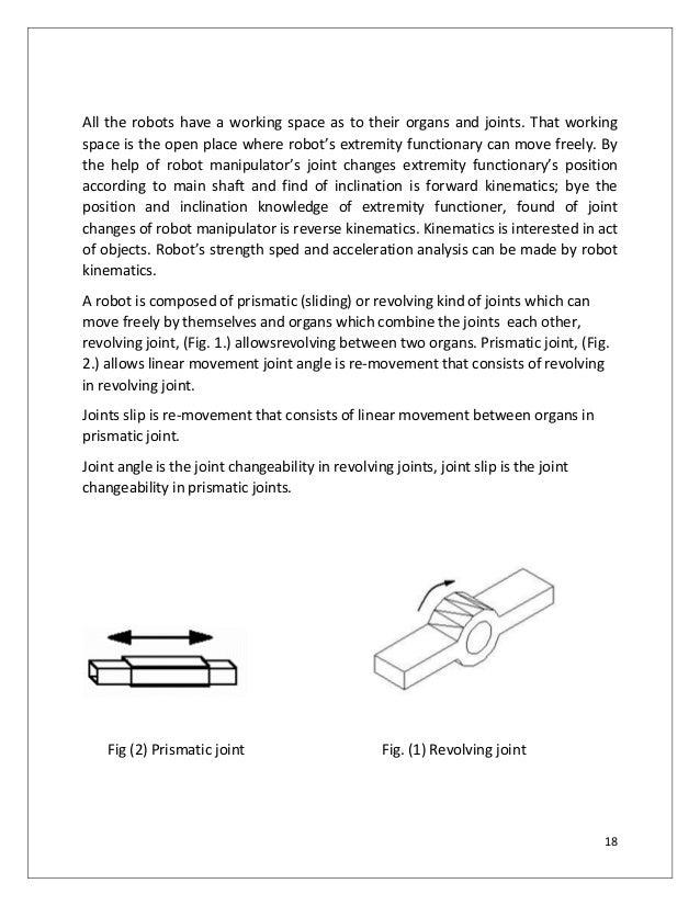 robotic arm project report pdf
