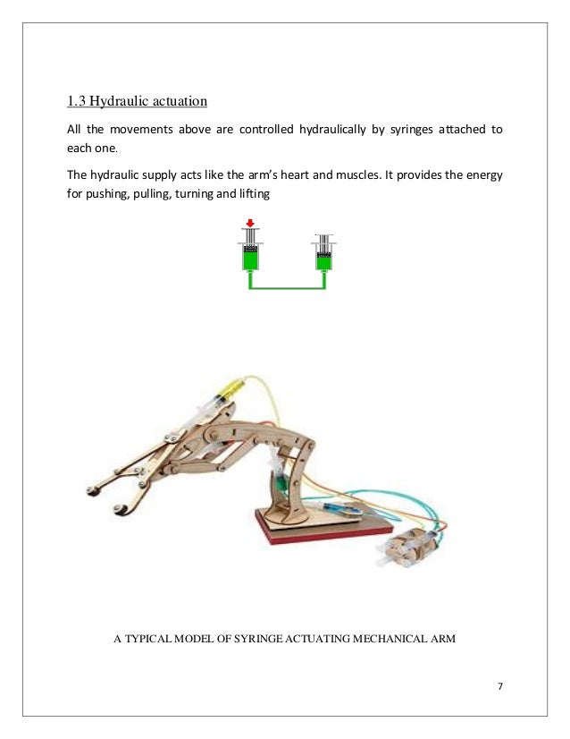 PROJECT REPORT ON HYDRAULIC ROBOTIC ARM