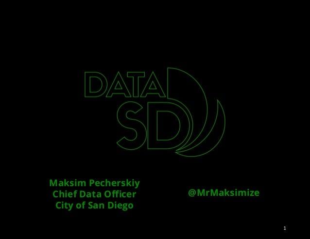 Maksim Pecherskiy Chief Data Officer City of San Diego @MrMaksimize