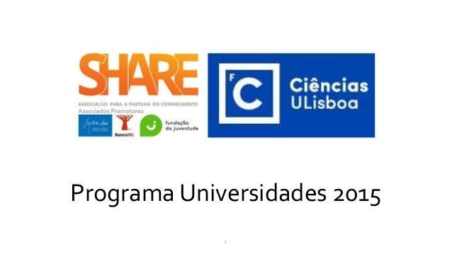 Programa Universidades 2015 1