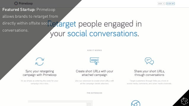 Featured Startup: Primeloop allows brands to retarget from directly within offsite social conversations.