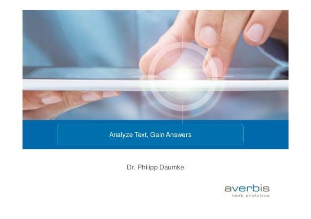Dr. Philipp Daumke Analyze Text, Gain Answers