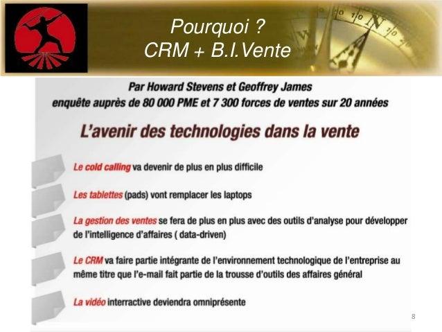 Pourquoi ?CRM + B.I.Vente8