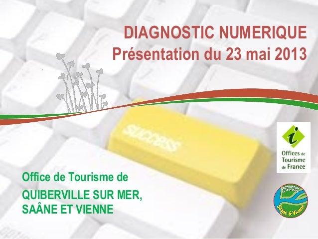 DIAGNOSTIC NUMERIQUEPrésentation du 23 mai 2013Office de Tourisme deQUIBERVILLE SUR MER,SAÂNE ET VIENNE