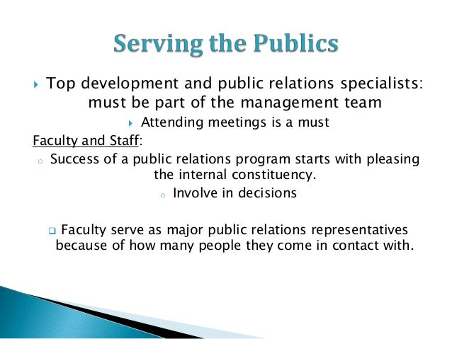 the development of public relations Public relations measurement and evaluation has long been a major practice subject from the late 1970s onwards it has been identified as an important issue for research and practice implementation (mcelreath, 1980, 1989 synnott & mckie 1997 watson, 2008 watson & noble, 2007) the evolution of public relations.