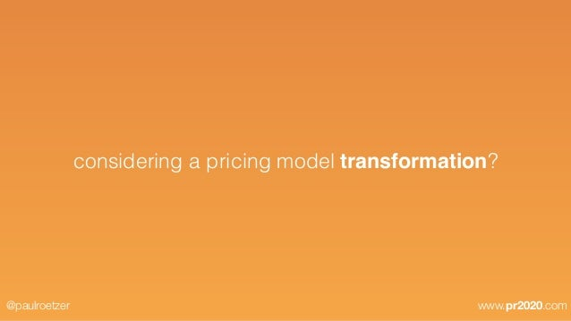 What is a pricing model?