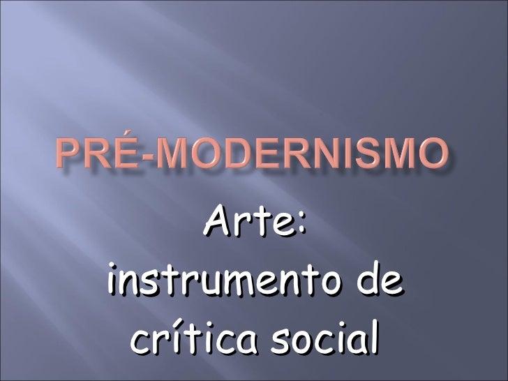 Arte: instrumento de crítica social