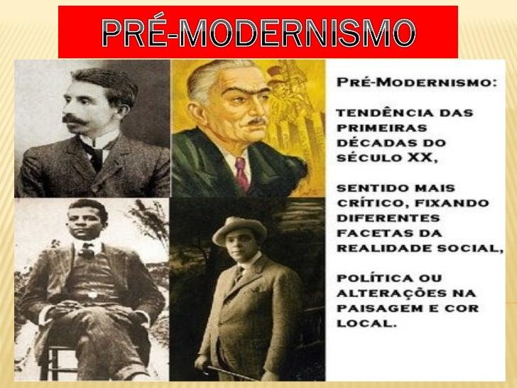 Período de transição entre as estéticas do século 19 e o Modernismo, o Pré-Modernismo não constitui uma estética literária...