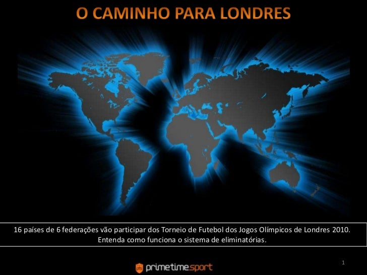 O CAMINHO PARA LONDRES<br />16 países de 6 federaçõesvãoparticipar dos Torneio de Futebol dos JogosOlímpicos de Londres 20...
