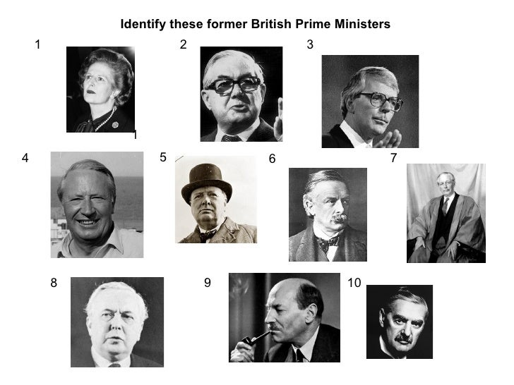 British prime ministers picture quiz - Office of prime minister uk ...