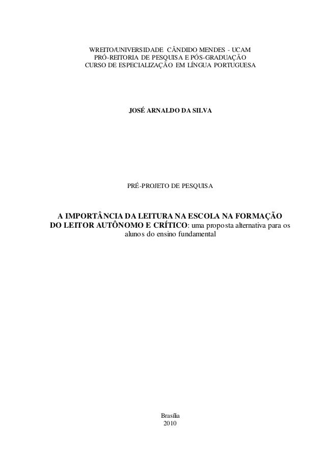 WREITO/UNIVERSIDADE CÂNDIDO MENDES - UCAM  PRÓ-REITORIA DE PESQUISA E PÓS-GRADUAÇÃO  CURSO DE ESPECIALIZAÇÃO EM LÍNGUA POR...