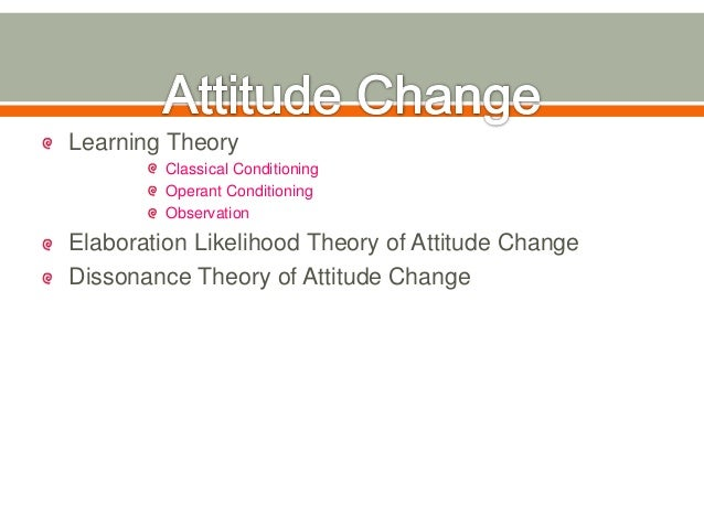 learning theory of attitude
