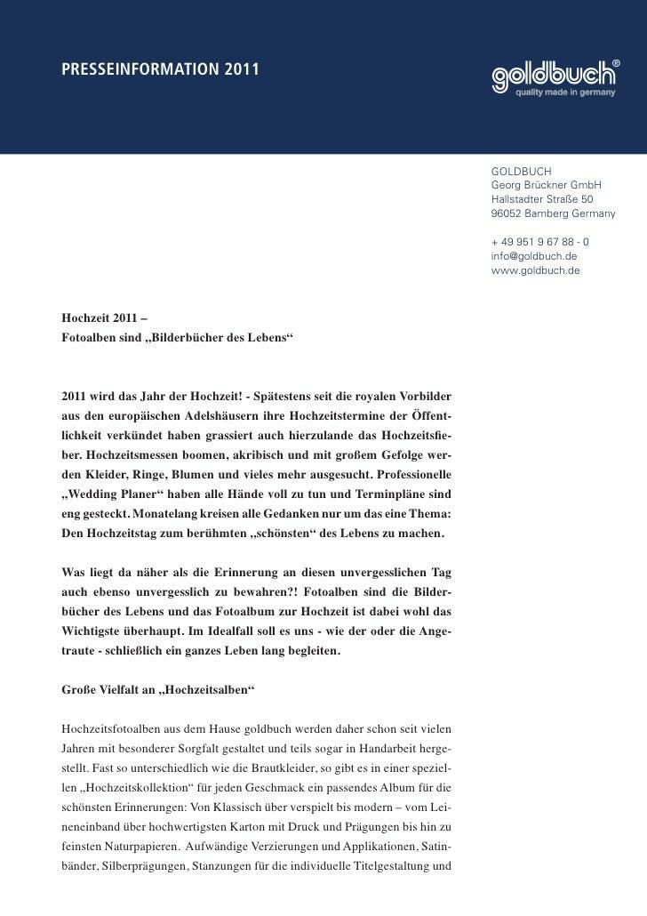 PRESSEINFORMATION 2011                                                                                     GOLDBUCH       ...