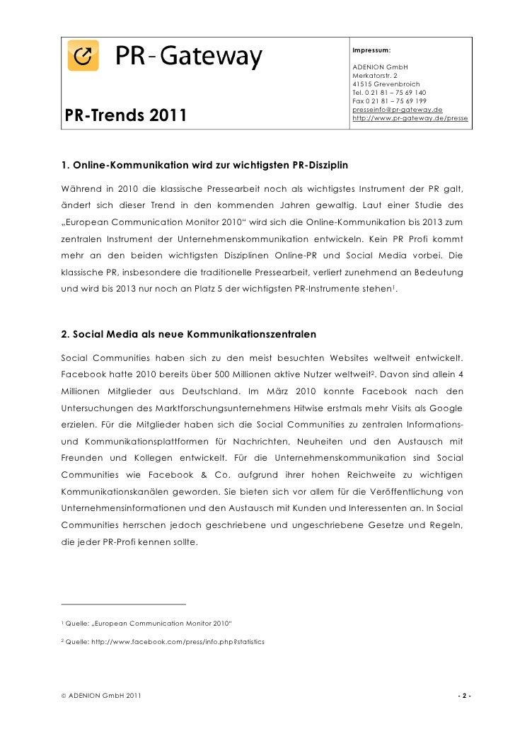 PR-Trends 2011 Slide 2