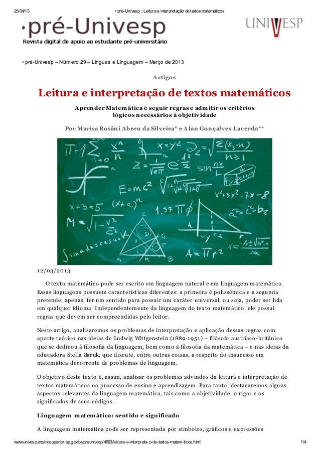 25/04/13 • pré-Univesp :: Leitura e interpretação de textos matemáticoswww.univesp.ensinosuperior.sp.gov.br/preunivesp/466...
