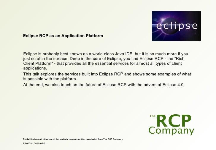PR0029 - 2010-05-31                                                                                    1          Eclipse ...