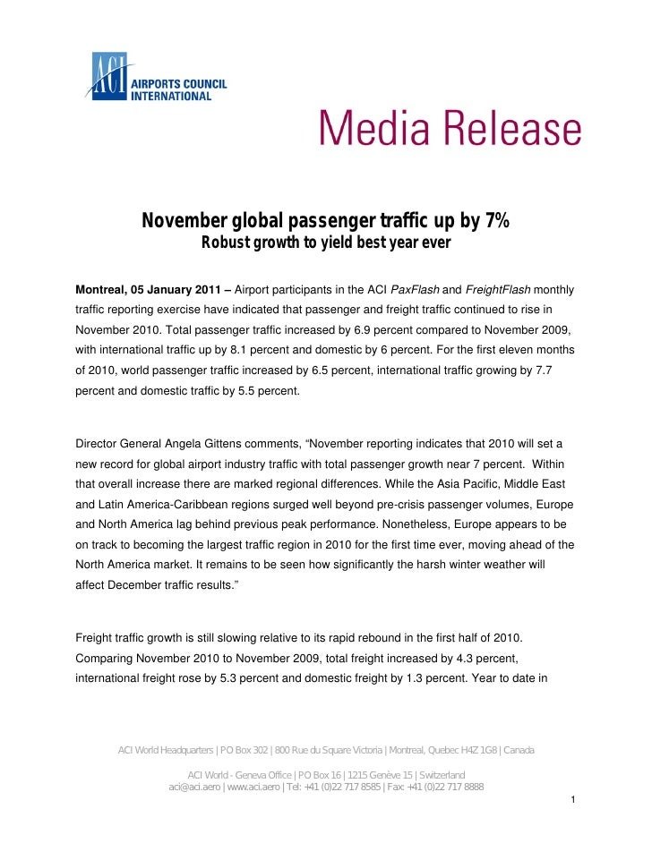November global passenger traffic up by 7%                             Robust growth to yield best year everMontreal, 05 J...