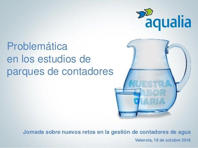 Problemática en los estudios de parques de contadores Jornada sobre nuevos retos en la gestión de contadores de agua Valen...