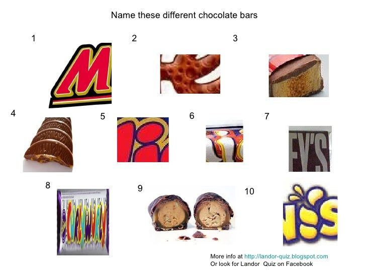 Chocolate Wrapper Quiz Uk