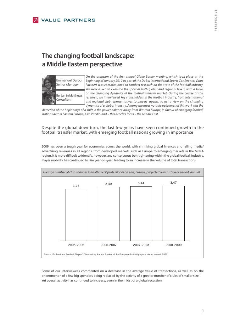 PERSPECTIVE The changing football landscape: a Middle Eastern perspective                                 On the occasion ...