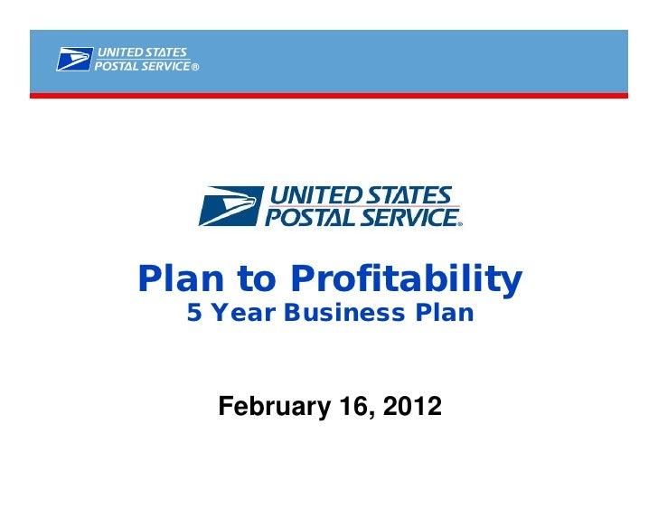 ®Plan to Profitability  5 Year Business Plan      February 16, 2012