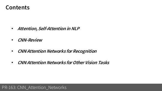 CNN Attention Networks