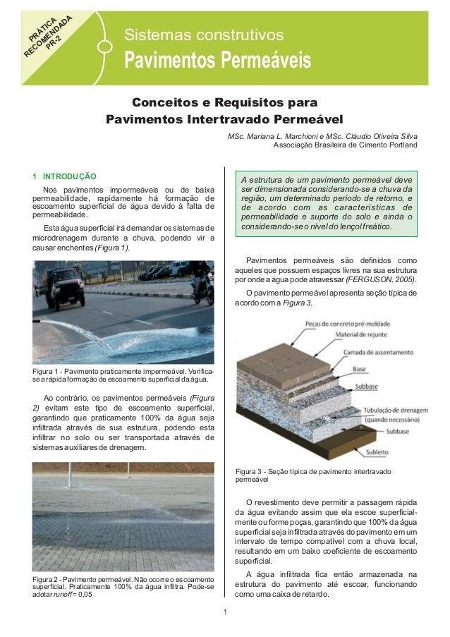 A CA D TI DA Á N PR ME -2 O PR EC R  Sistemas construtivos  Pavimentos Permeáveis Conceitos e Requisitos para Pavimentos I...