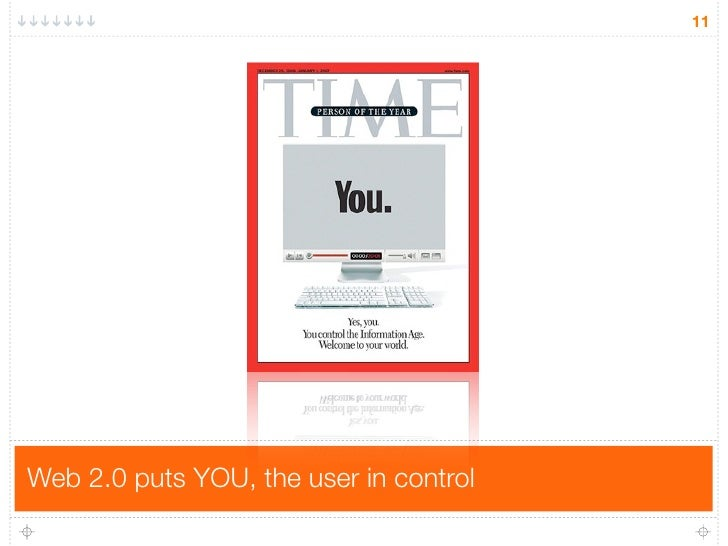 11     Web 2.0 puts YOU, the user in control