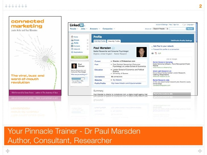 2     Your Pinnacle Trainer - Dr Paul Marsden Author, Consultant, Researcher