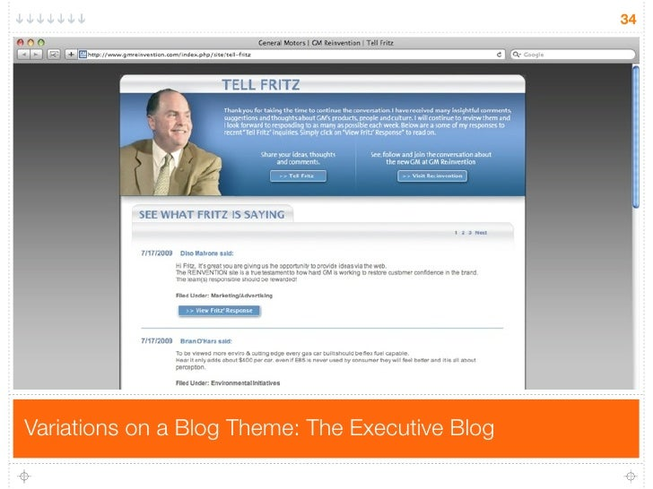 34     Variations on a Blog Theme: The Executive Blog