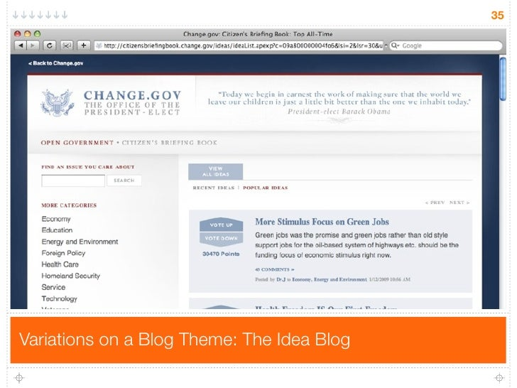 35     Variations on a Blog Theme: The Idea Blog