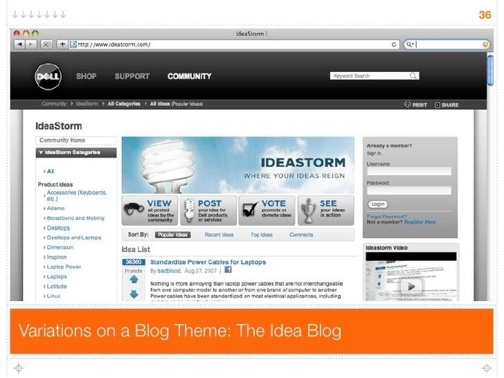 36     Variations on a Blog Theme: The Idea Blog