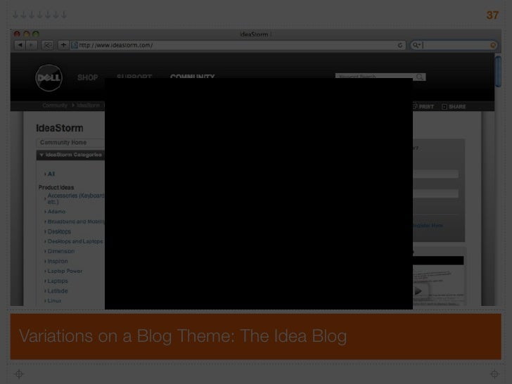 37     Variations on a Blog Theme: The Idea Blog