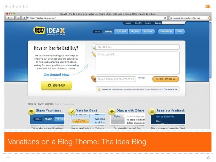 38     Variations on a Blog Theme: The Idea Blog