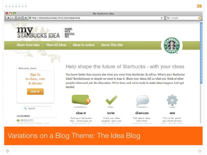 39     Variations on a Blog Theme: The Idea Blog