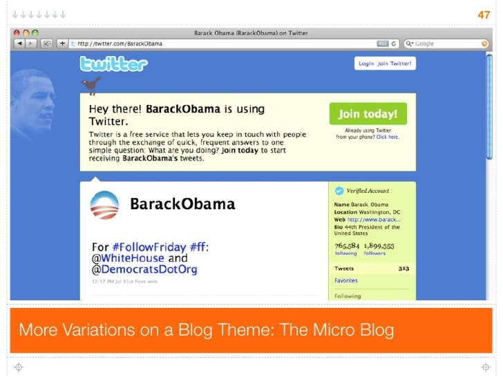 47     More Variations on a Blog Theme: The Micro Blog