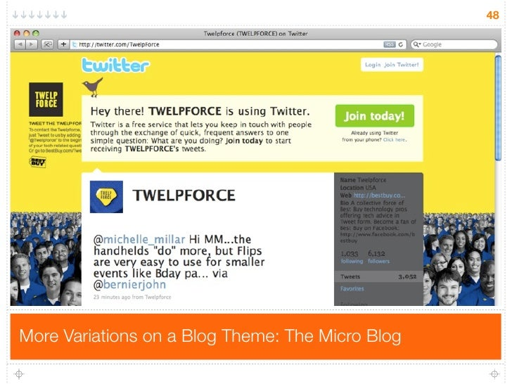 48     More Variations on a Blog Theme: The Micro Blog