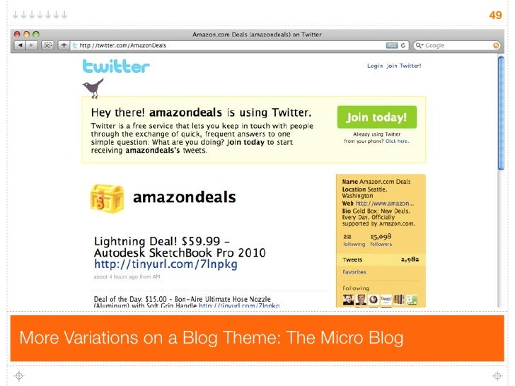 49     More Variations on a Blog Theme: The Micro Blog