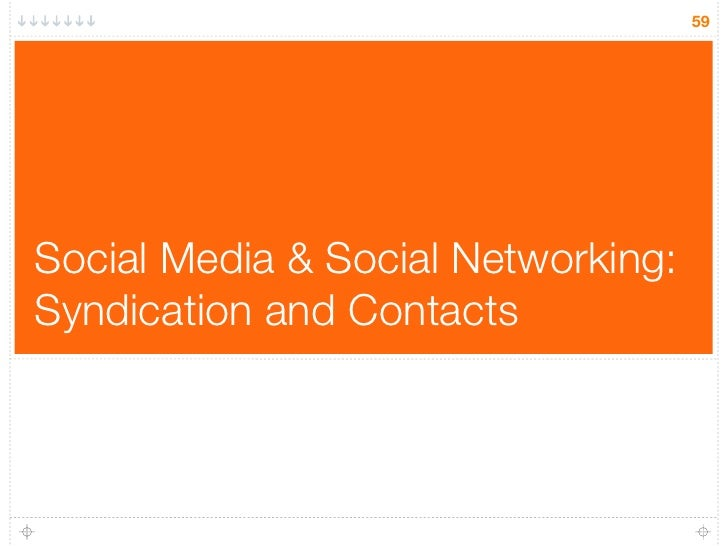 59     Social Media & Social Networking: Syndication and Contacts