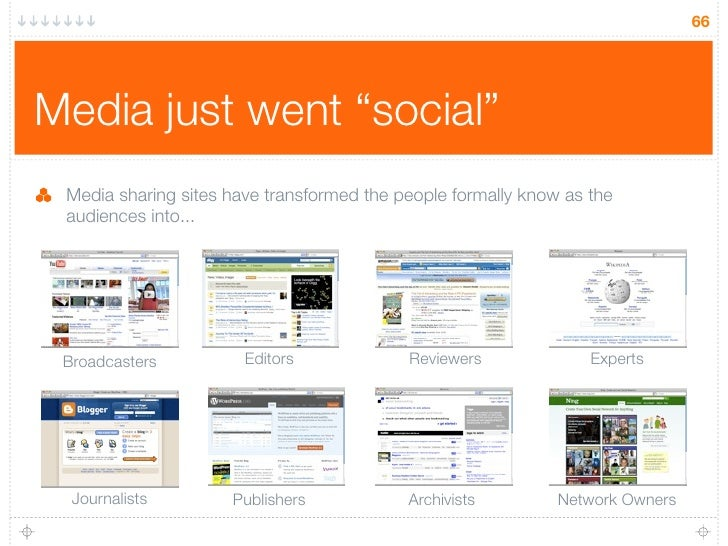 "66     Media just went ""social""  Media sharing sites have transformed the people formally know as the  audiences into...  ..."