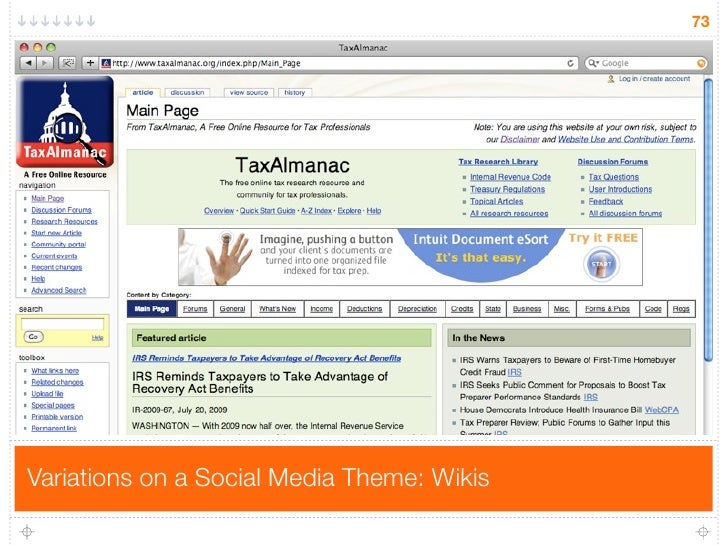 73     Variations on a Social Media Theme: Wikis