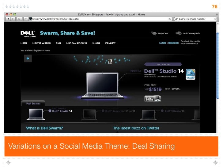 76     Variations on a Social Media Theme: Deal Sharing