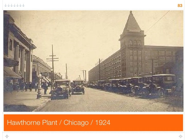 83     Hawthorne Plant / Chicago / 1924