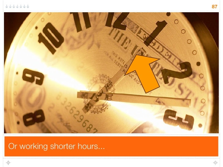 87     Or working shorter hours...