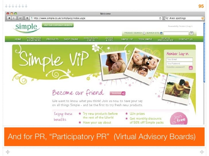 "95     And for PR, ""Participatory PR"" (Virtual Advisory Boards)"