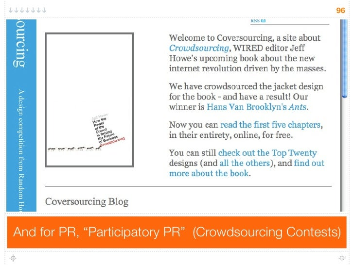 """96     And for PR, """"Participatory PR"""" (Crowdsourcing Contests)"""