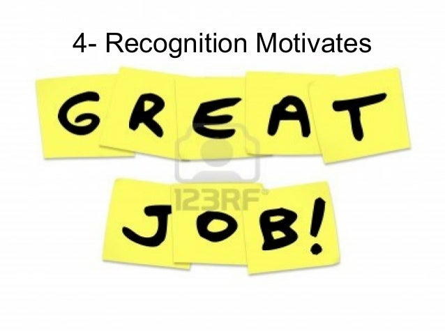 Leadership and Motvaton Skills Mohammad Tawfk #WikiCourses http:////WikiCoursesWWikiSpacesWcom 4- Recognition Motivates